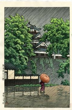 KAWASE Hasui 川瀬 巴水 (1883-1957) - Title: UDO TOWER IN KUMAMOTO CASTLE Dated: 1948