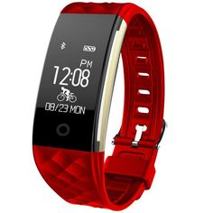 Fitness Tracker, Toprime Waterproof Activity Heart Rate Tracker Sleep Monitor Pedometer Watch, Smart Sport Bracelet for Android and IOS, Red. $38.99