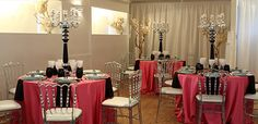 Pink and black decor - Toronto Wedding Chapel
