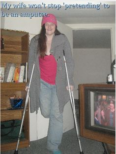 McColl Magazine - J-LEG Prosthetic Leg New`s | My wife won't stop pretending to be an amputee