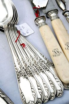 French utensils~love the bone handles on the knives!