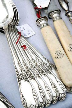 French silver utensils