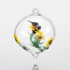 Chickadee by Steve Scherer (Art Glass Ornament)   Artful Home