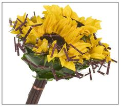 Classics Sunflower Bridal Bouquet - Floral Design Institute   home   Welcome to Flower School