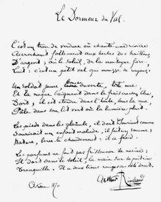 Arthur Rimbaud - Le dormeur du val - (un de mes préférés )
