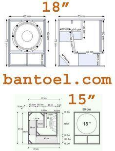 """Desain box Speaker Miniscoop 18"""" dan 15"""" - BANTOEL .COM"""