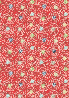 Red Rose Fabric from Lewis & Irene at sewhot.co.uk