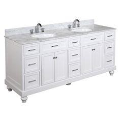"""Kitchen Bath Collection Amelia 72"""" Double Bathroom Vanity Set"""
