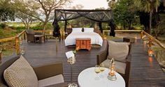Abu Camp, Okavango Delta #Botswana #StarBed - a luxury bed under the stars