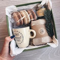 Sweater Cookies Mug Gift Box Gift Ideas Food Gift Small