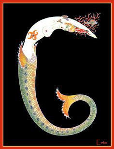 #illustration #dressai | Erte Mermaid!!!!