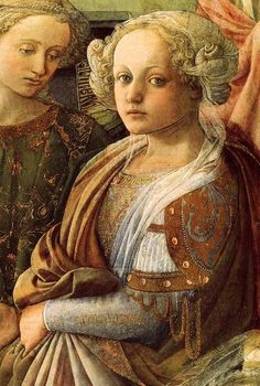 LIPPI, Fra Filippo Coronation of the Virgin (detail) 1441-1447 ~ Galleria Deli  ~ Uffizi ~ Florence