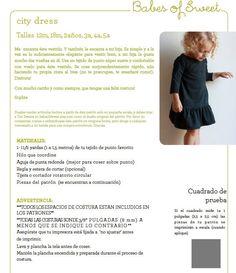 SPANISH city dress / patrón de costura pdf tallas 12 meses a 5 años / facil de coser (INSTRUCCIONES en ESPAÑOL)