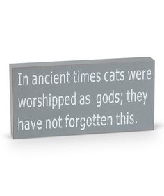 Another great find on #zulily! 'In Ancient Times' Box Sign #zulilyfinds