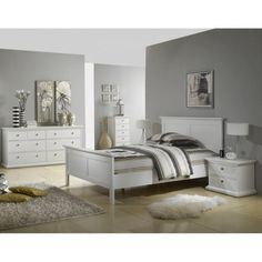 White a grey room