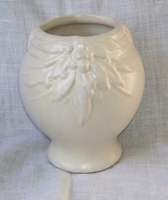 Nelson McCoy Leaves and Berries White Pottery