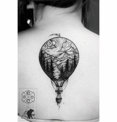 back tattoo air balloon