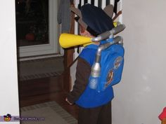 Karen: My son loves Paw Patrol and the costumes were lacking. We put our heads together and came up with what we think is an awesome homemade version. Started by spray. Source by kimiblarsen Chase Paw Patrol Costume, Paw Patrol Halloween Costume, Chase Costume, Halloween Costume Contest, Halloween Costumes For Kids, Halloween 2015, Costume Ideas, Paw Patrol Pumpkin Stencil, Paw Patrol Birthday Invitations
