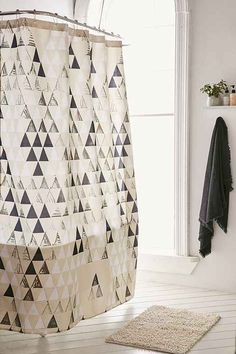 Shower curtains don't get enough love. Besides their obviously functional purpose, they can totally pull the bathroom together. Update your bathroom with one of these trendy shower curtains: Bathroom Shower Curtains, Bathroom Themes, Curtains, Bathroom Curtains, Trendy Shower Curtain, Small Apartments, Bathroom, Shower Curtain, Round Decor