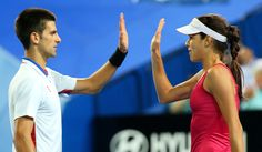 Novak Djokovic & Ana Ivanovic - Hopman Cup - Day 5 - well done