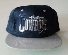 Vintage Dallas Cowboys AJD Deadstock Snapback Hat NFL VTG 4ca41b0b2e59