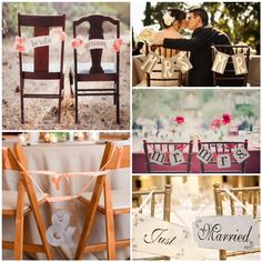 Lake Tahoe Wedding Inspiration | Chair Signs | Lake Tahoe Weddings with Tahoe Unveiled