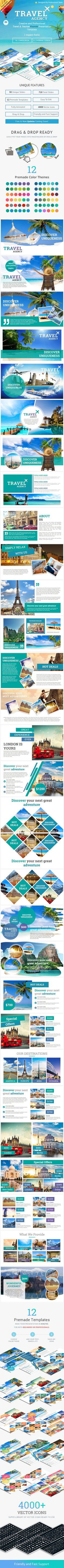 Travel and Tourism Keynote Presentation Template Construction