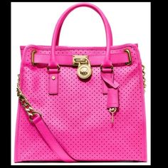 MK Perforated Pink Hamilton In excellent condition.  Price is firm so no lowball offers please. Michael Kors Bags