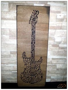 Items similar to Classical or electric guitar musical notes frame on Etsy Carved Wood Signs, String Art Patterns, Music Gifts, Music Notes, Native Indian, Pattern Art, Wood Art, Graffiti, Sewing Projects