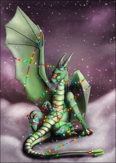 Christmas Dragon Lairy Fights by kovah.deviantart.com with Pin--It-Button on @deviantART