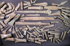 Tisbury Hoard, was found in a field in Wiltshire, England.  It contains around 114 bronze weapons, tools and ornaments, and was probably buried in the early Iron Age, in or towards the end of the seventh century B.C., Dot Boughton, a researcher with the Portable Antiquities Scheme, wrote in a paper published in the latest issue of British Archaeology.  While the objects were buried simultaneously, they cover a span of 1,000 years.