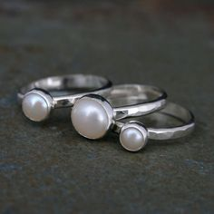 Etsy - Pearl stacking rings