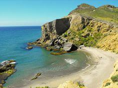 CALA DE LOS AMARILLOS, Cabo de Gata, Costa Almeria, SPAIN. #naturistbeach #nudistbeach.