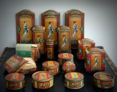 Beautiful collection of L.T. Piver Pompeia perfume and powder boxes + compact. - Edit Listing - Etsy