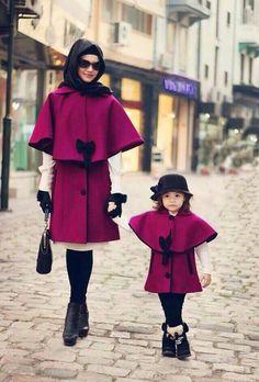 Schattig jasje voor moeder en dochter