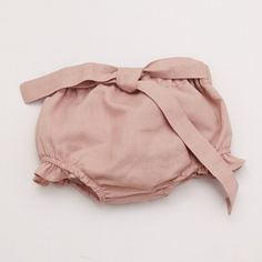 Baby Linen Bloomer - Vintage Pink - PANTS - SHOP BY PRODUCT - BABY