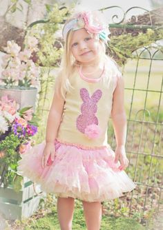 Sparkle Bunny Easter Dress Preorder 12 Months to 12 Years