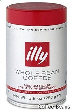 Coffee Beans - illy Caffe Normale Whole Bean Coffee, Medium Roast, 8.8 coffee cans (Pack of 6) Package may vary
