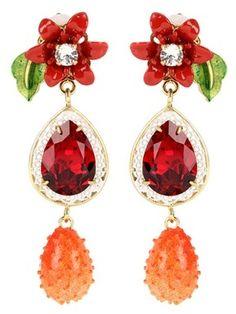 Dolce & Gabbana Clip-ohrringe Mit Kristallsteinen