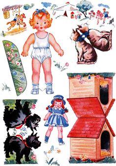 Paper Dolls~First Days in School - Bonnie Jones - Picasa Web Albums