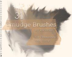 31 Smudge Brushes by kanonliv.deviantart.com on @DeviantArt