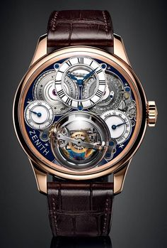 La Cote des Montres : La montre Zenith Academy Christophe Colomb Hurricane grand voyage - Cap sur l'exception Dream Watches, Fine Watches, Men's Watches, Cool Watches, Stylish Watches, Black Watches, Unique Watches, Pocket Watches, Watches Online