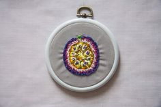Flowers Embroidered on the Strings of Vintage Rackets and Other Thread Artworks by Danielle Clough
