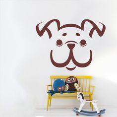 Wall Vinyl Sticker Decals Decor Art Bedroom Kids Nursery Design Bulldog Dog Face Animal (Z2667) StickersForLife http://www.amazon.com/dp/B00KJCTCE4/ref=cm_sw_r_pi_dp_JMUfvb1Y82NEQ