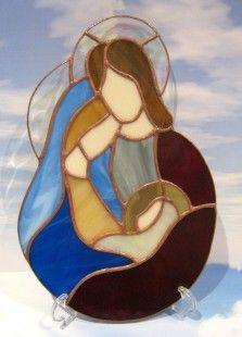✥✥SAINTE FAMILLE JÉSUS ✥✥ CRÈCHE ✥✥ VITRAIL TIFFANY  ARTISANAL CADEAU  : Décorations murales par magie-du-vitrail
