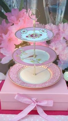 I want to make this three tier cake plate. I have a great collection of old china plates.