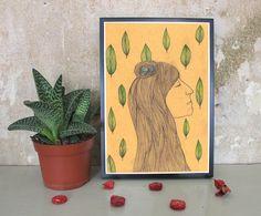 Digitaldruck - Frühlings Mädchen - A4 Illustration/Druck  - ein Designerstück von IrinaMmur bei DaWanda