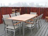 Mahogany Bamboo Friendly Fence on Boston Rooftop