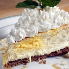 Lemon Coconut Cheesecake. A creamy coconut cheesecake recipe with a delicious zest of lemon.