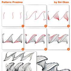Prasima pattern/tangle | Zentangle                                                                                                                                                                                 More                                                                                                                                                                                 More